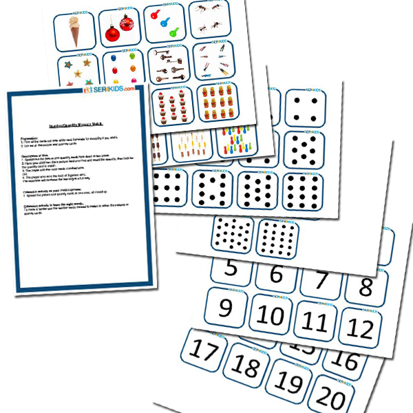 One to Twenty Number &amp; Quantity Memory Game