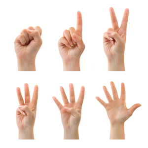 Counting fingers (0 to 5)